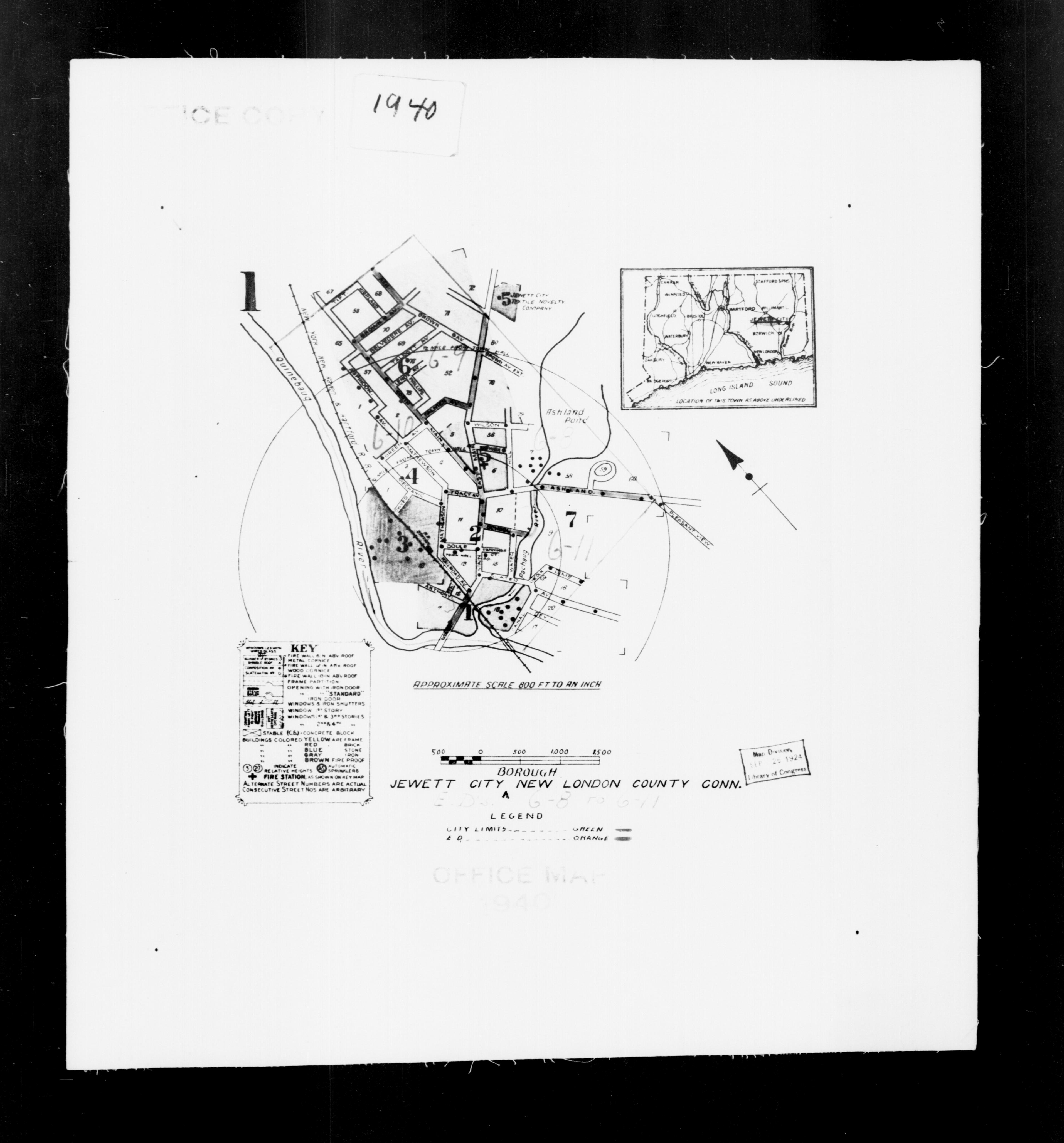 1940 Census Enumeration District Maps - Connecticut - New London County - Jewett