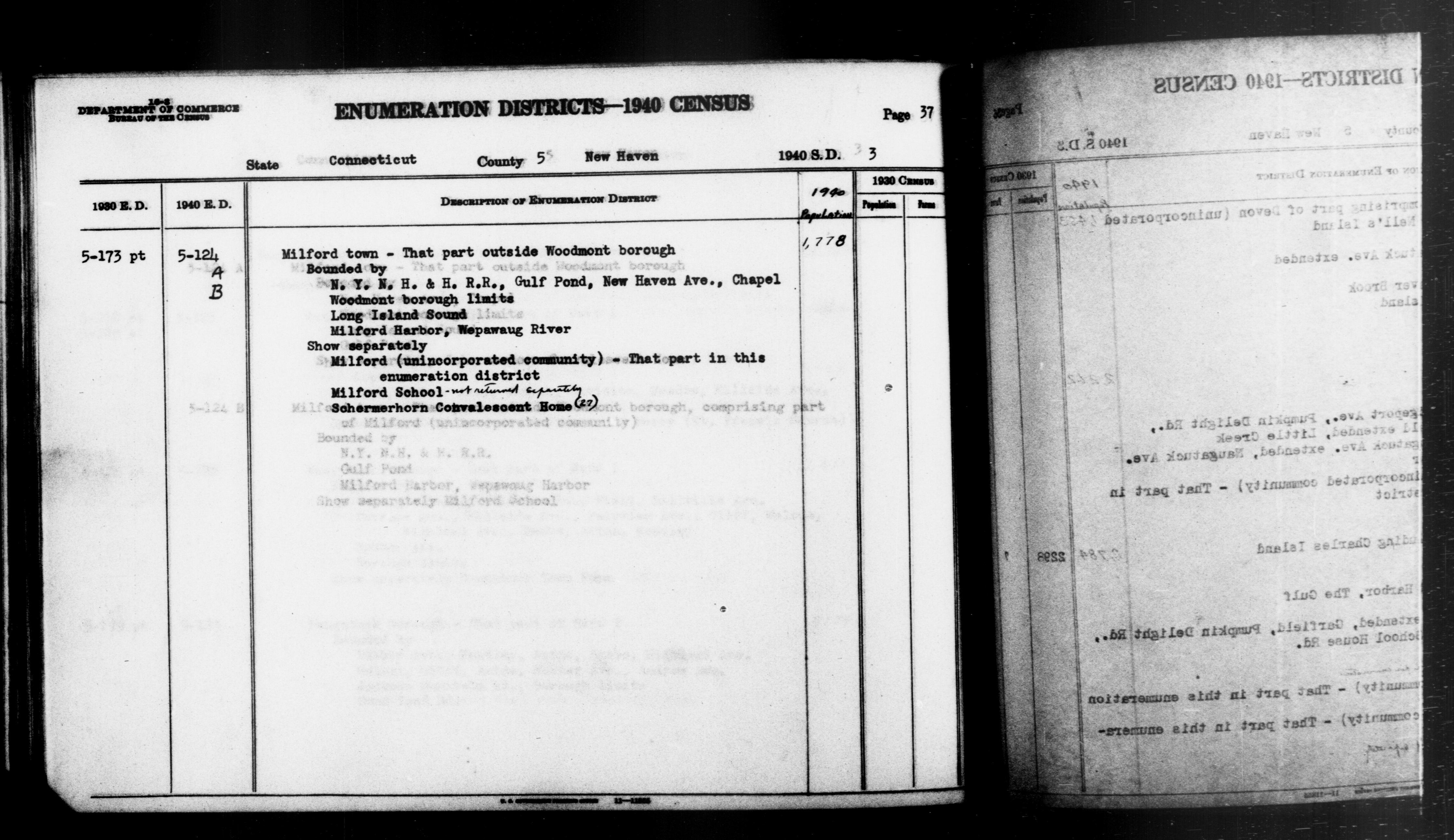 1940 Census Enumeration District Descriptions - Connecticut - New Haven County - ED 5-124A, ED 5-124B