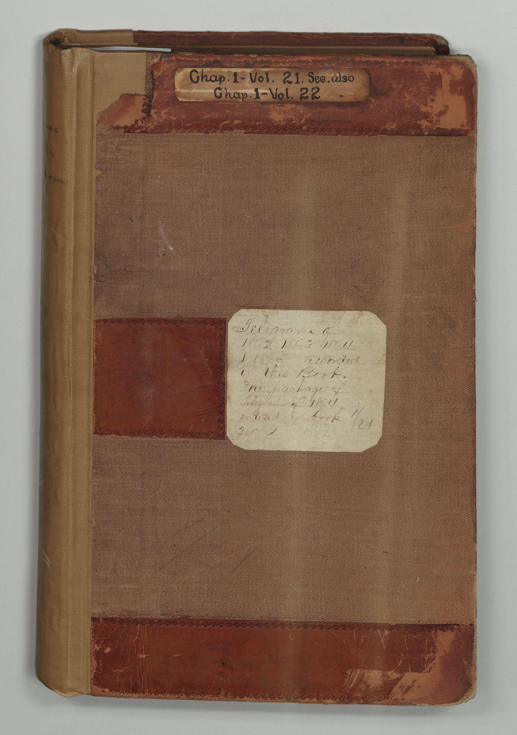 A&IGO - Telegrams Received, 1862-1865