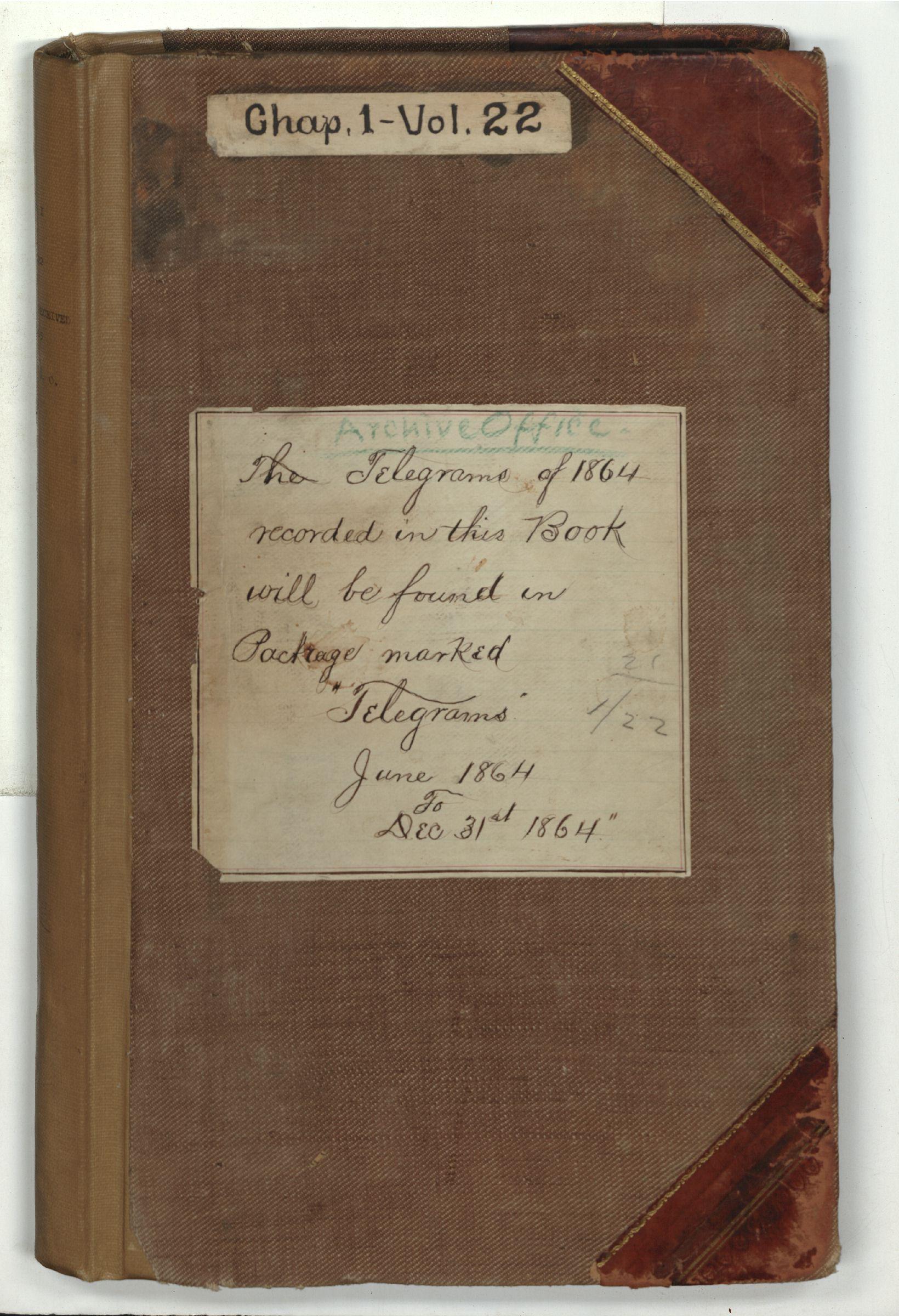 A&IGO - Telegrams Received, 1864-1865