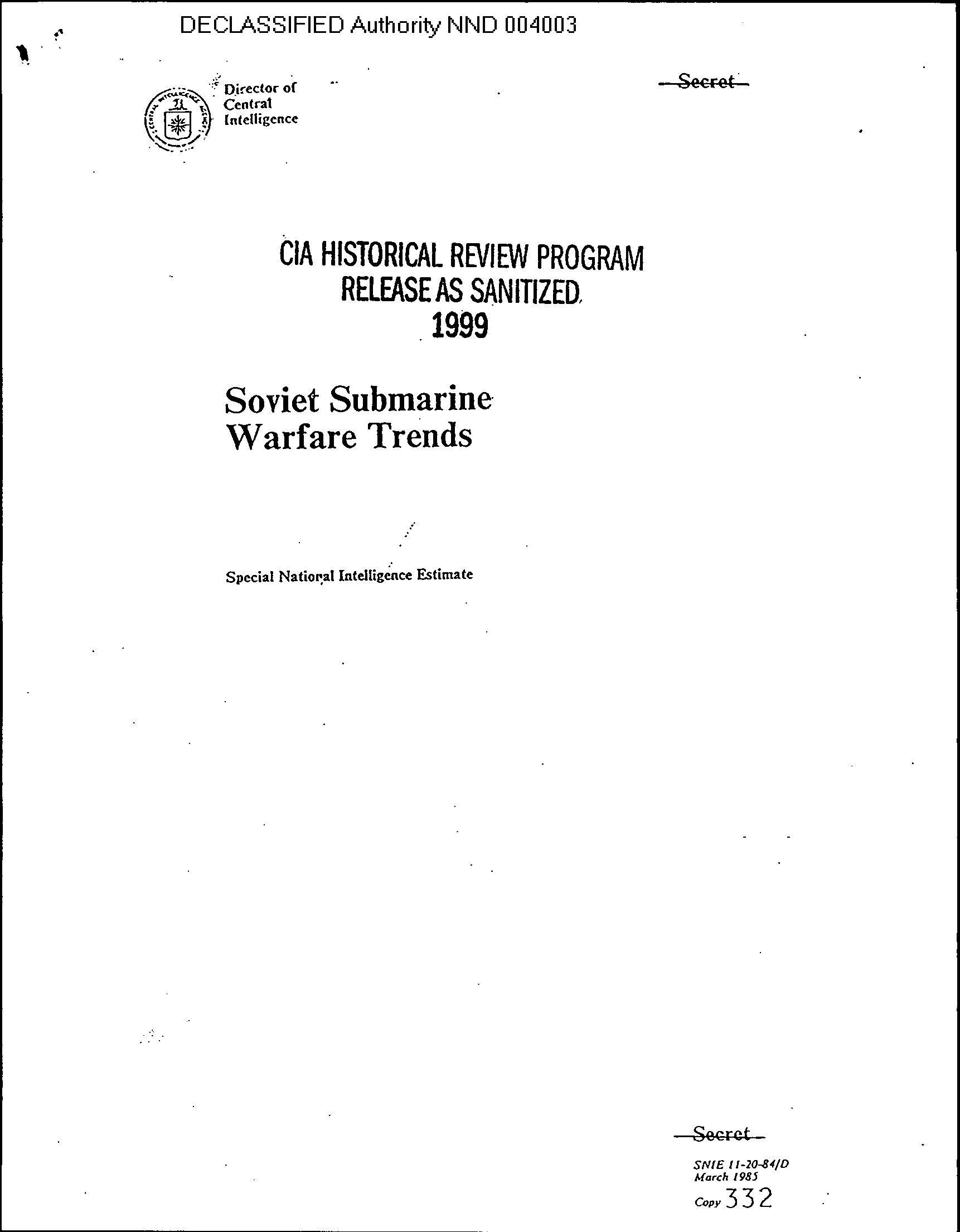 SNIE 11-20-84/D, Mar 85, Soviet Submarine Warfare Trends