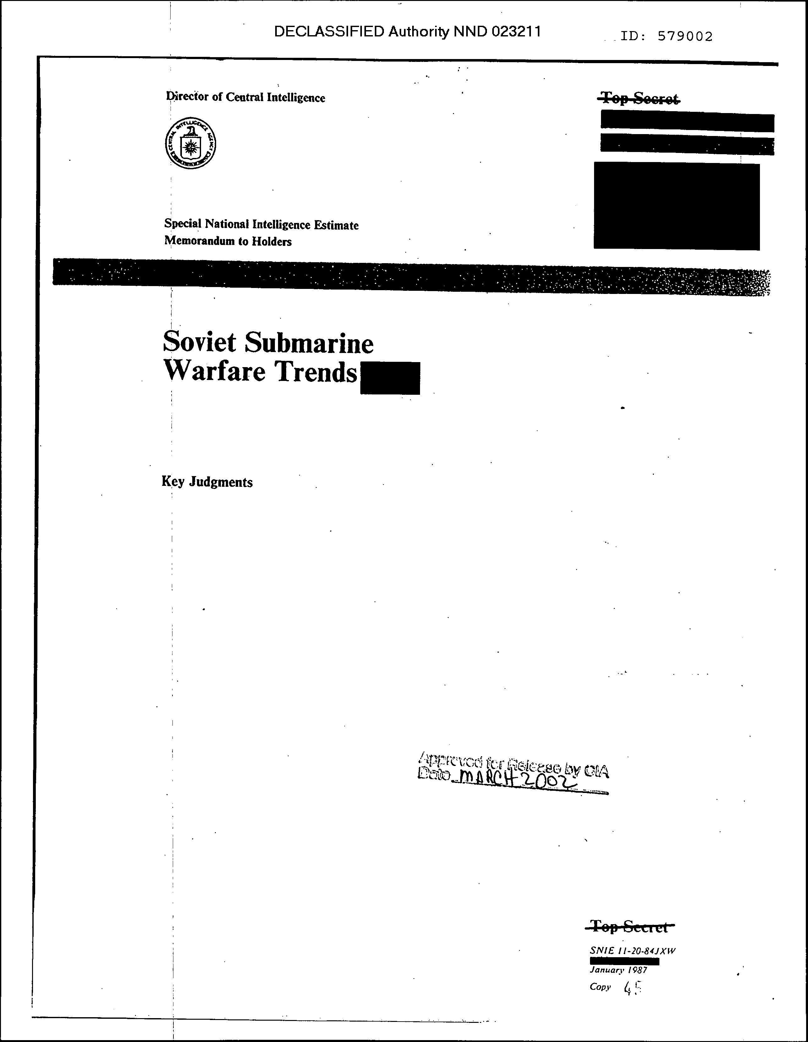 SNIE 11-20-84JXW, Jan 87, Soviet Submarine Warfare Trends