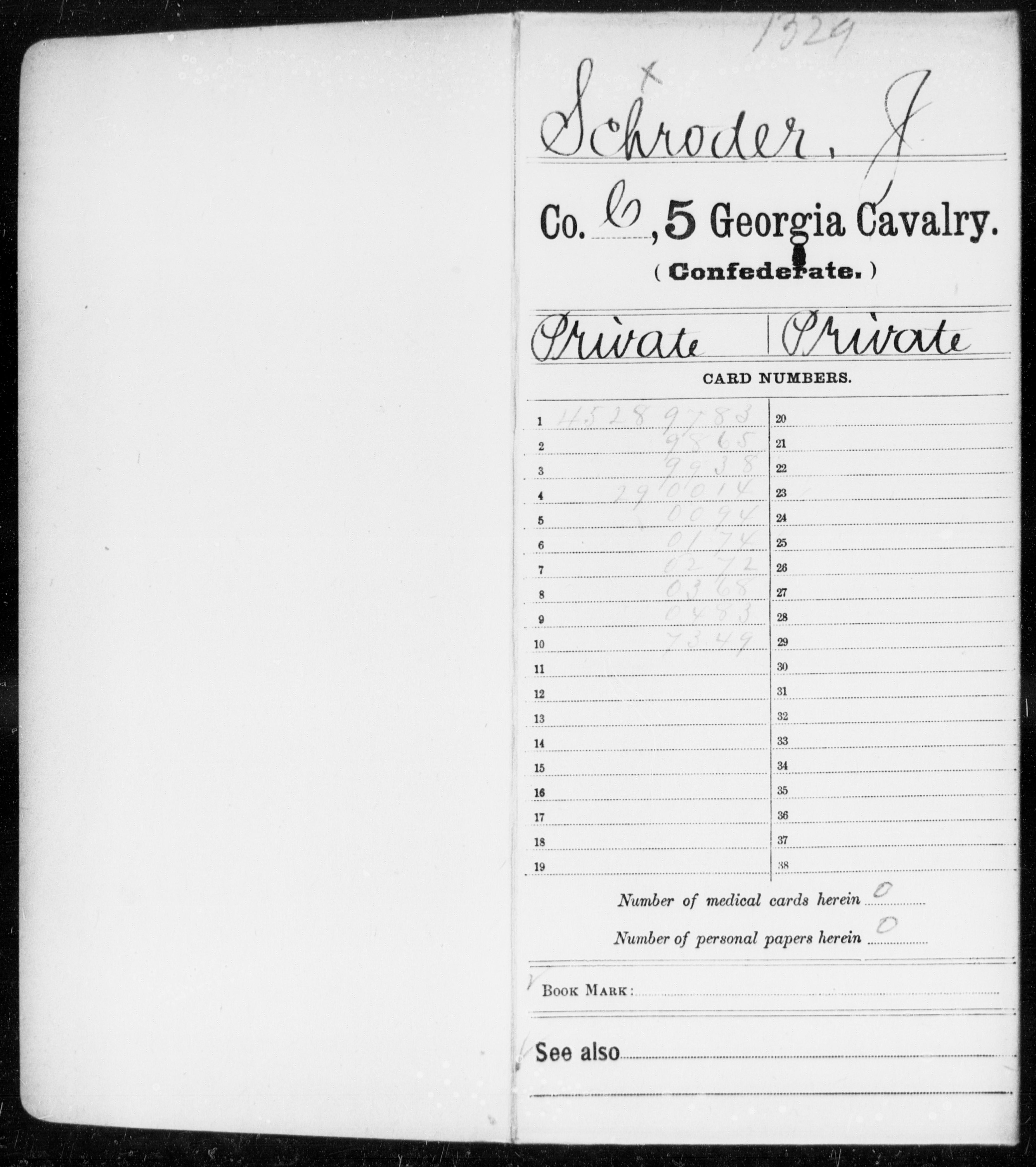 Schroder, J - 5th Cavalry