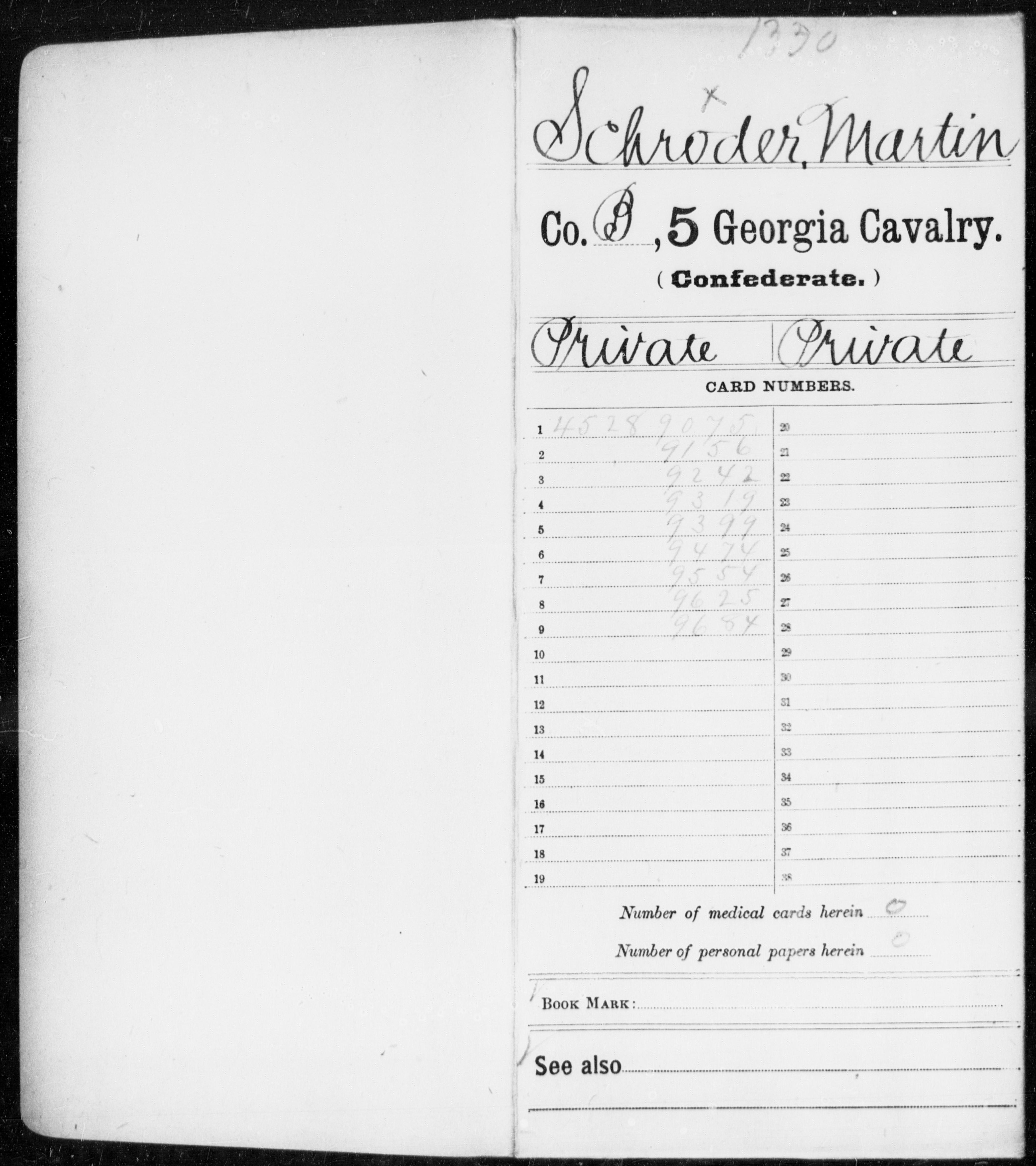 Schroder, Martin - 5th Cavalry