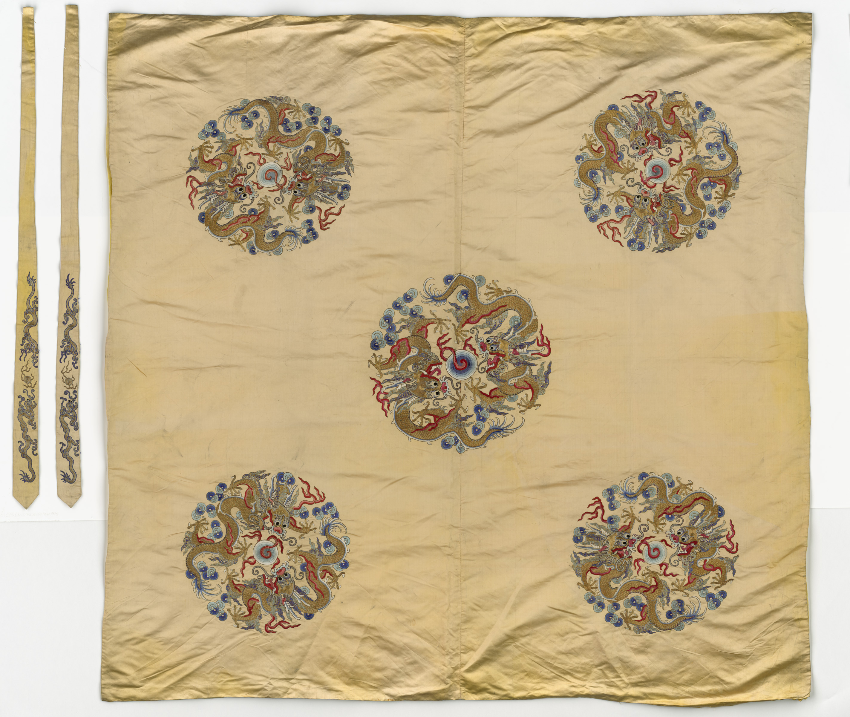 Embroidered Satin Wrapper