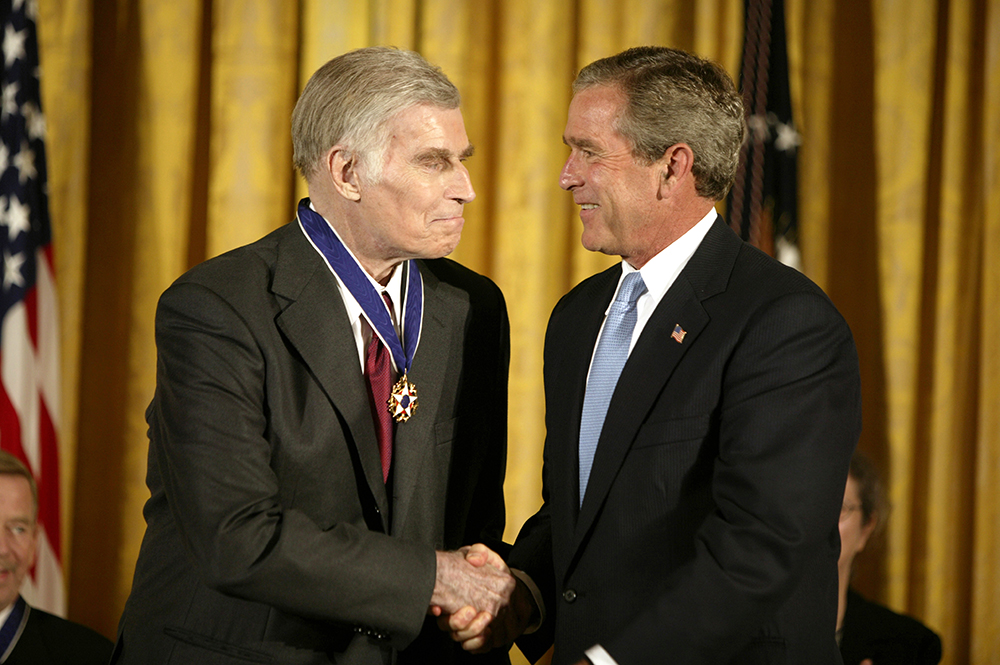 President George W. Bush Presents the Presidential Medal of Freedom to Charlton Heston