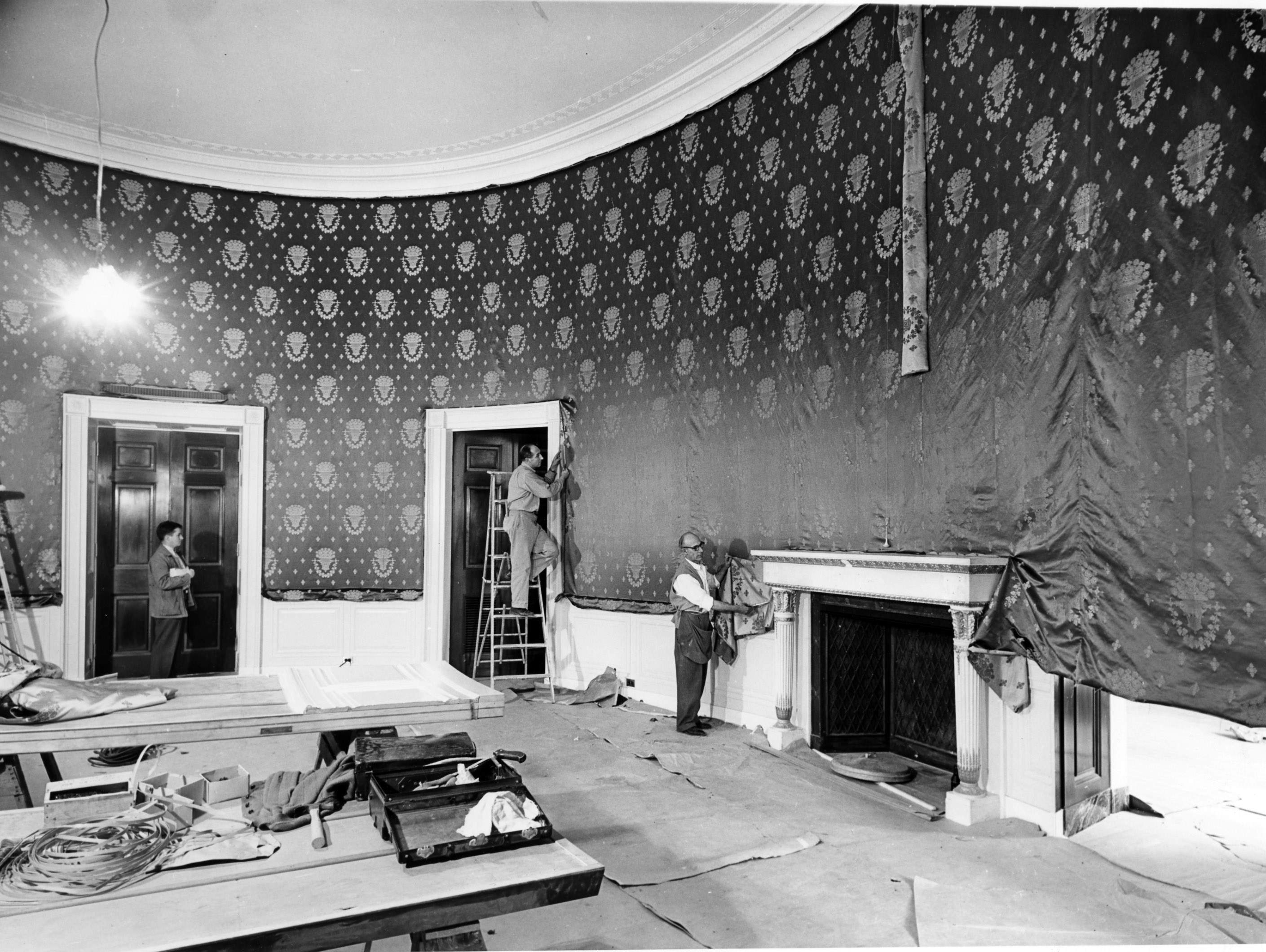 Northeast View of the White House Blue Room