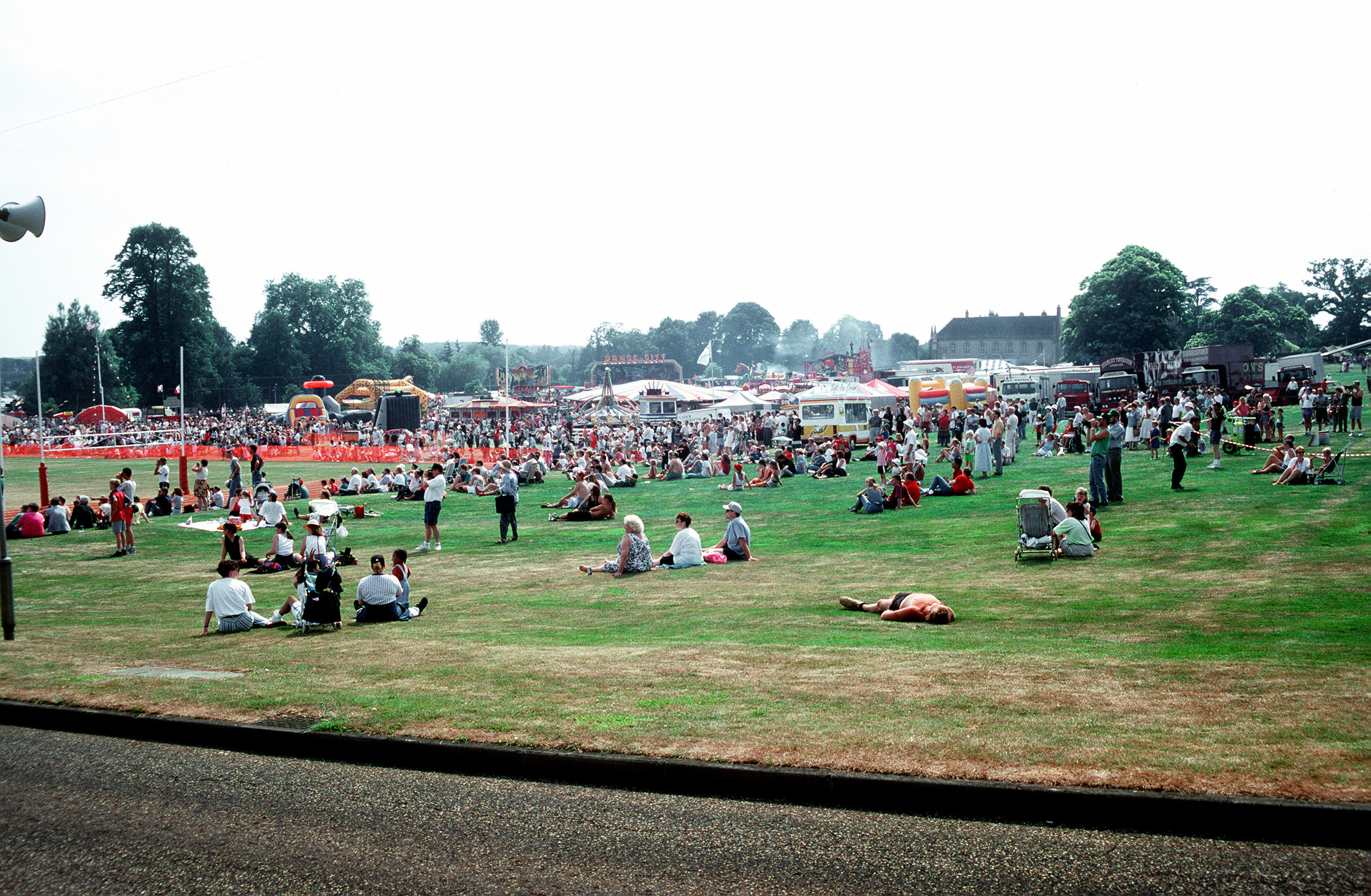 An overview of the crowd ad the RAF Chicksands