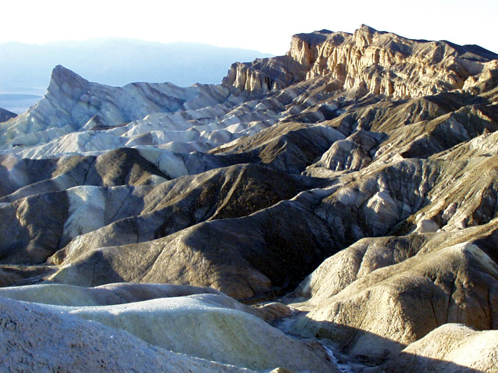 Death Valley Scenic Byway - Red Cathedral and Surrounding Golden Canyon